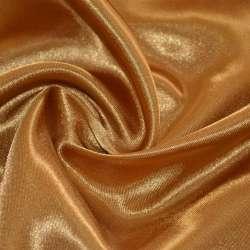Атлас коричневий світлий з золотим відливом ш.150