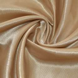 Атлас бежево-коричневий ш.150