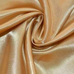 Атлас бежево-золотистий ш.150