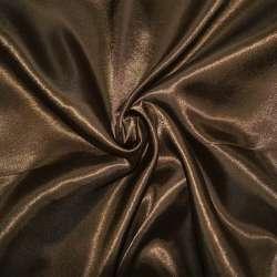 Атлас коричневий ш.150