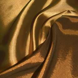 Атлас стрейч хамелеон золотисто-помаранчевий ш.150