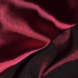 Стрейч атлас хамелеон темно вишневый ш.150