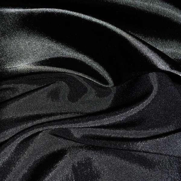 Стрейч атлас хамелеон черный ш.150