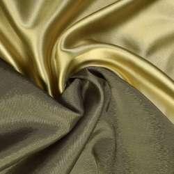 Стрейч атлас хамелеон золотисто болотный ш.150
