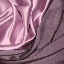 Атлас стрейч хамелеон рожево-сірий ш.150