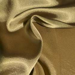 Стрейч атлас хамелеон бежево оливковый ш.150