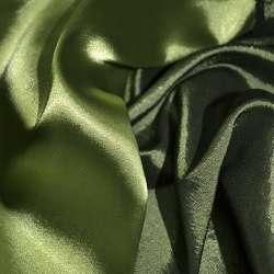Стрейч атлас хамелеон зеленый ш.150