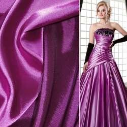 Стрейч атлас хамелеон розово лиловый ш.150