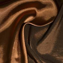 Стрейч атлас хамелеон коричнево рыжий ш.150
