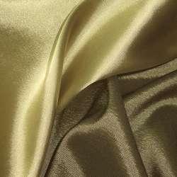 Стрейч атлас хамелеон зелено золотой ш.150