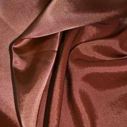 Стрейч атлас хамелеон терракотово розовый ш.150