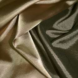 Стрейч атлас хамелеон коричнево золотистый ш.150