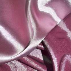 Стрейч атлас хамелеон сиренево розовый ш.150
