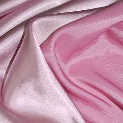 Стрейч атлас хамелеон розово молочный ш.150