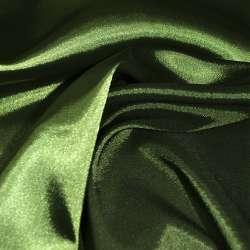 Стрейч атлас хамелеон зеленый темный ш.150