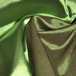 Стрейч атлас хамелеон зелено бордовый ш.150