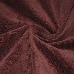 Велюр бавовняний коричнево-червоний ш.106