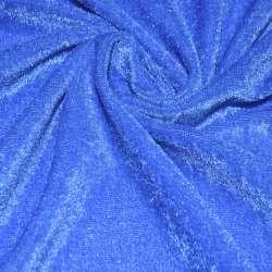 Велюр стрейч блакитний темний ш.150