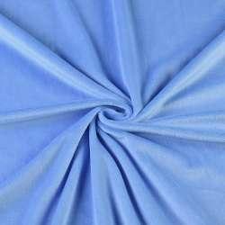 Велюр стрейч блакитний темний ш.165