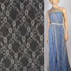 Гіпюр бежево-сірий з квітами ш.150