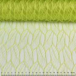 """Гіпюр жорсткий """"листя"""" зелений лайм, ш.160"""