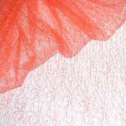 Гіпюр-павутинка оранжево-рожева ш.150