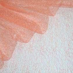 Гіпюр-павутинка персиково-рожева ш.150