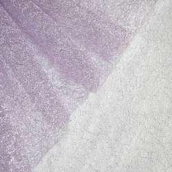 Гіпюр-павутинка фіолетова світла з срібним люрексом ш.160