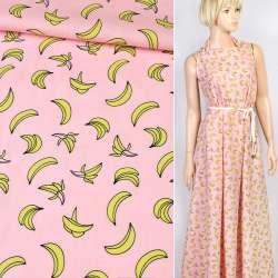 Коттон рожевий в банани, ш.150