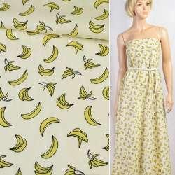 Коттон кремовий в банани, ш.150