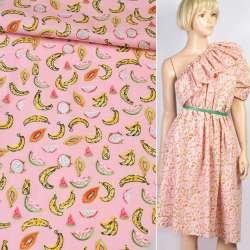Коттон рожевий в різнокольорові банан, кавун, ш.147