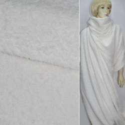 Тканина пальтова біла (ворсова) ш.150