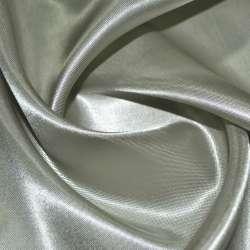 Атлас підкладковий сірий з оливковим відливом ш.150