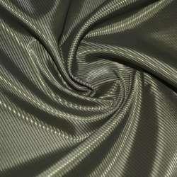 Тканина підкладкова поліестер діагональ зелена темна ш.145