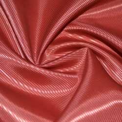 Тканина підкладкова поліестер діагональ червоно-теракотова ш.145