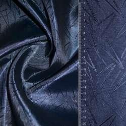 Жаккард атласний в розчерк синій
