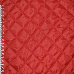 Тканина підкладкова стьобана червона (синтепон 100) ш.150