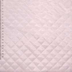 """Тканина підкладкова стьобана блідо-рожева """"квадрат"""" ш.150"""