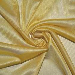 Тканина підкладкова трикотажна золотисто-жовта ш.155