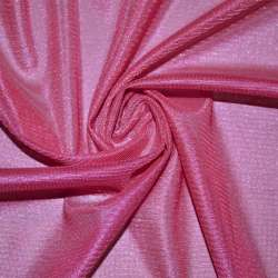 Тканина підкладкова трикотажна рожева насичена ш.150