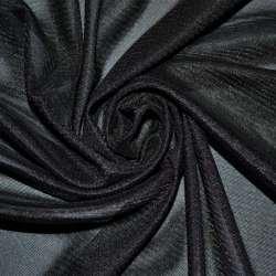 Тканина підкладкова трикотажна чорна ш.155
