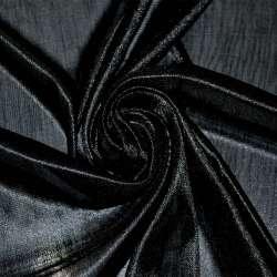 Тканина підкладкова трикотажна чорна ш.160