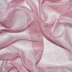 Трикотаж блідо-рожевий з метанітью ш.110