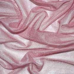 Трикотаж рожевий з метанітью ш.115