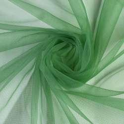 Сітка трикотажна прозора м'яка зелена, ш.165
