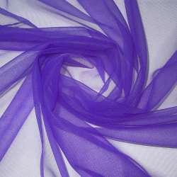 Сітка трикотажна прозора м'яка фіолетова ш.160
