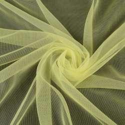 Сітка трикотажна прозора м'яка лимонна, ш.155