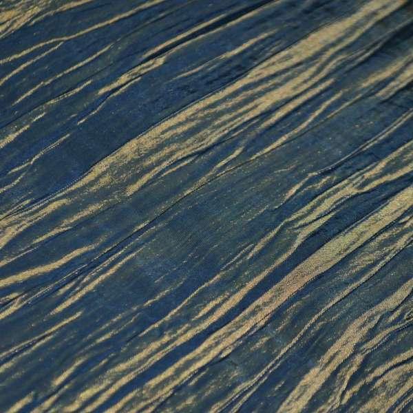Тафта жатая голубая с золотым отливом ш.130
