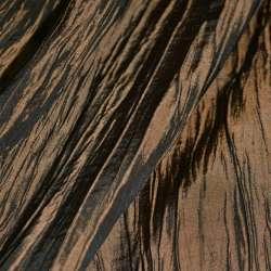 Тафта жатая коричневая темная с золотым отливом ш.130