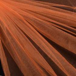 Еврофатин мягкий блестящий оранжевый, ш.140
